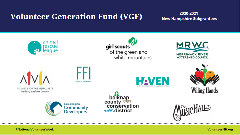 NH Nonprofits Utilize VGF Resources to Strengthen Volunteer Programming
