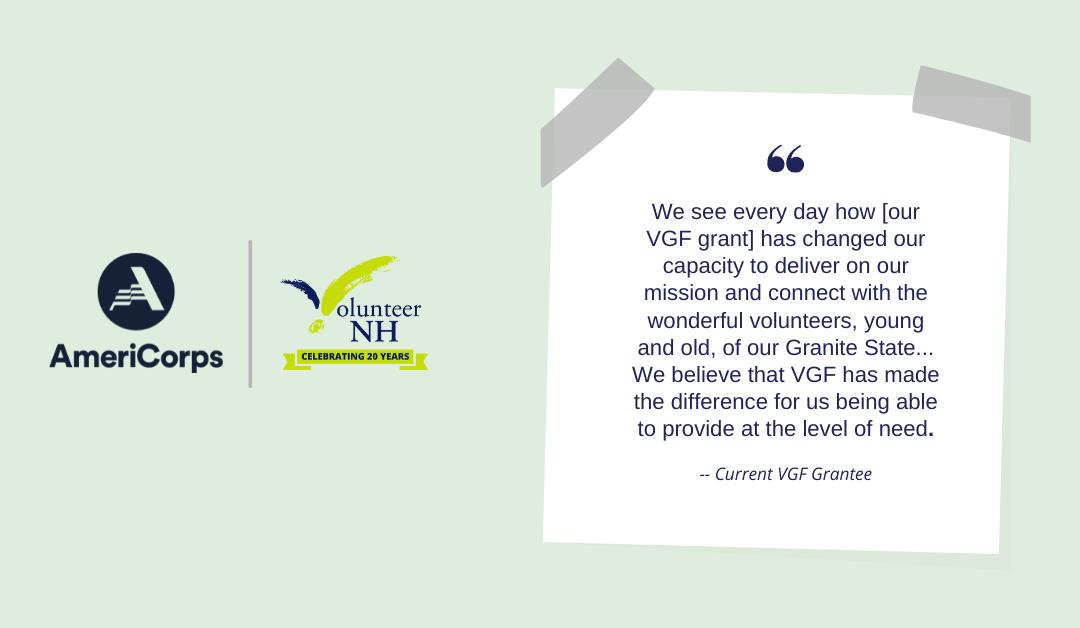 Notice of Funding Opportunity: 2021-2022 Volunteer Generation Fund (VGF) Grant